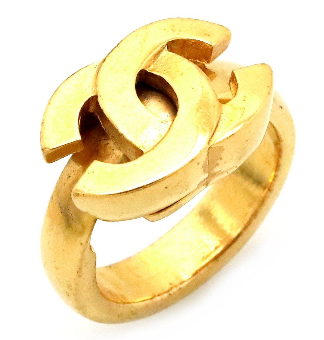 【ジュエリー】CHANEL シャネル ココマーク モチーフ リング 指輪 ゴールド GP 2001年製 #13 13号 【中古】