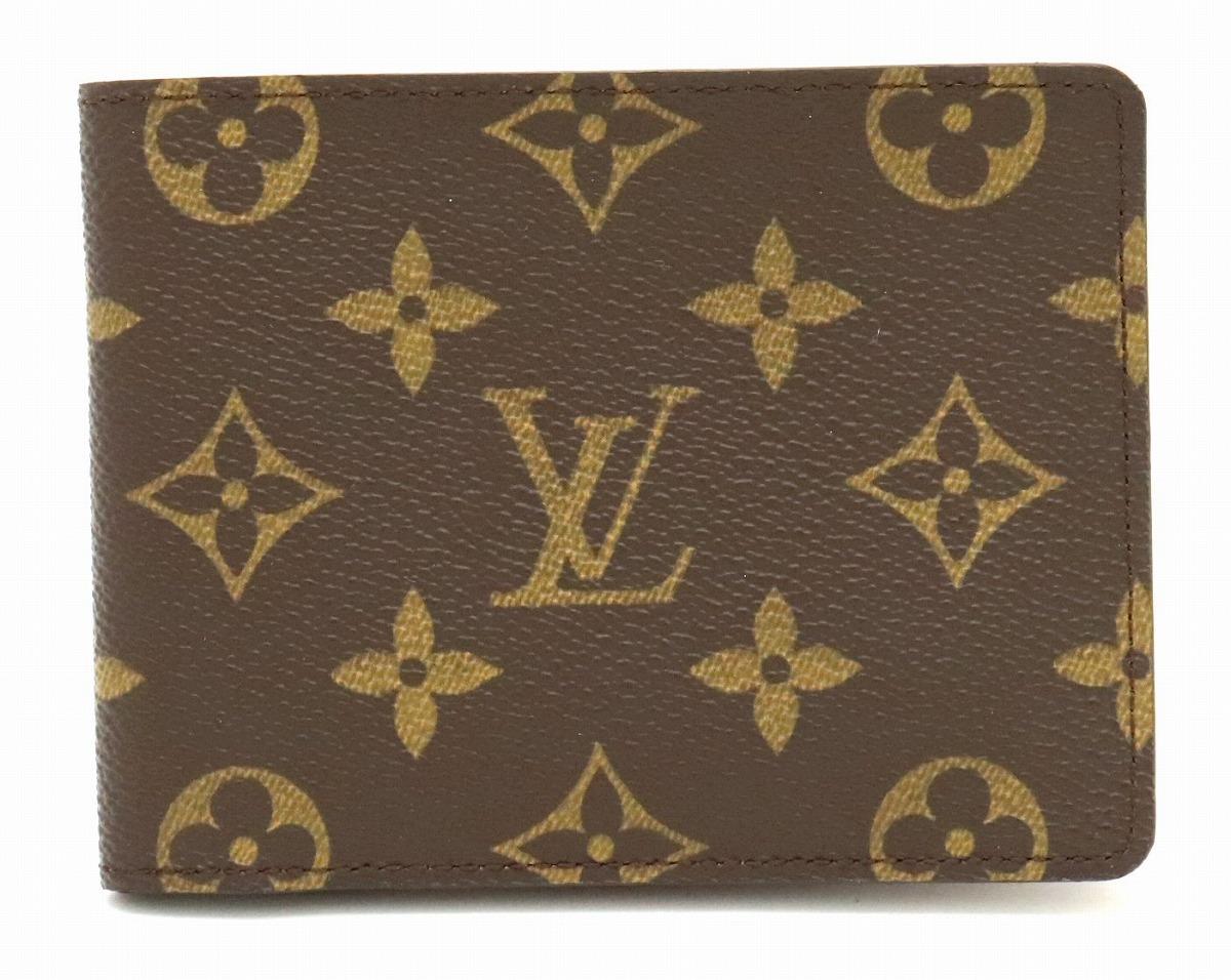 【未使用品】【財布】LOUIS VUITTON ルイ ヴィトン モノグラム ポルトフォイユ ミュルティプル 2つ折札入れ M60895 【中古】