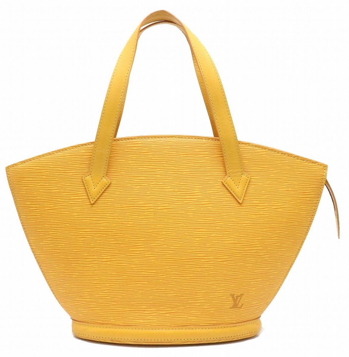 【バッグ】LOUIS VUITTON ルイ ヴィトン エピ サンジャック トートバッグ ハンドバッグ ショルダーバッグ セミショルダー レザー タッシリイエロー 黄色 M52279 【中古】