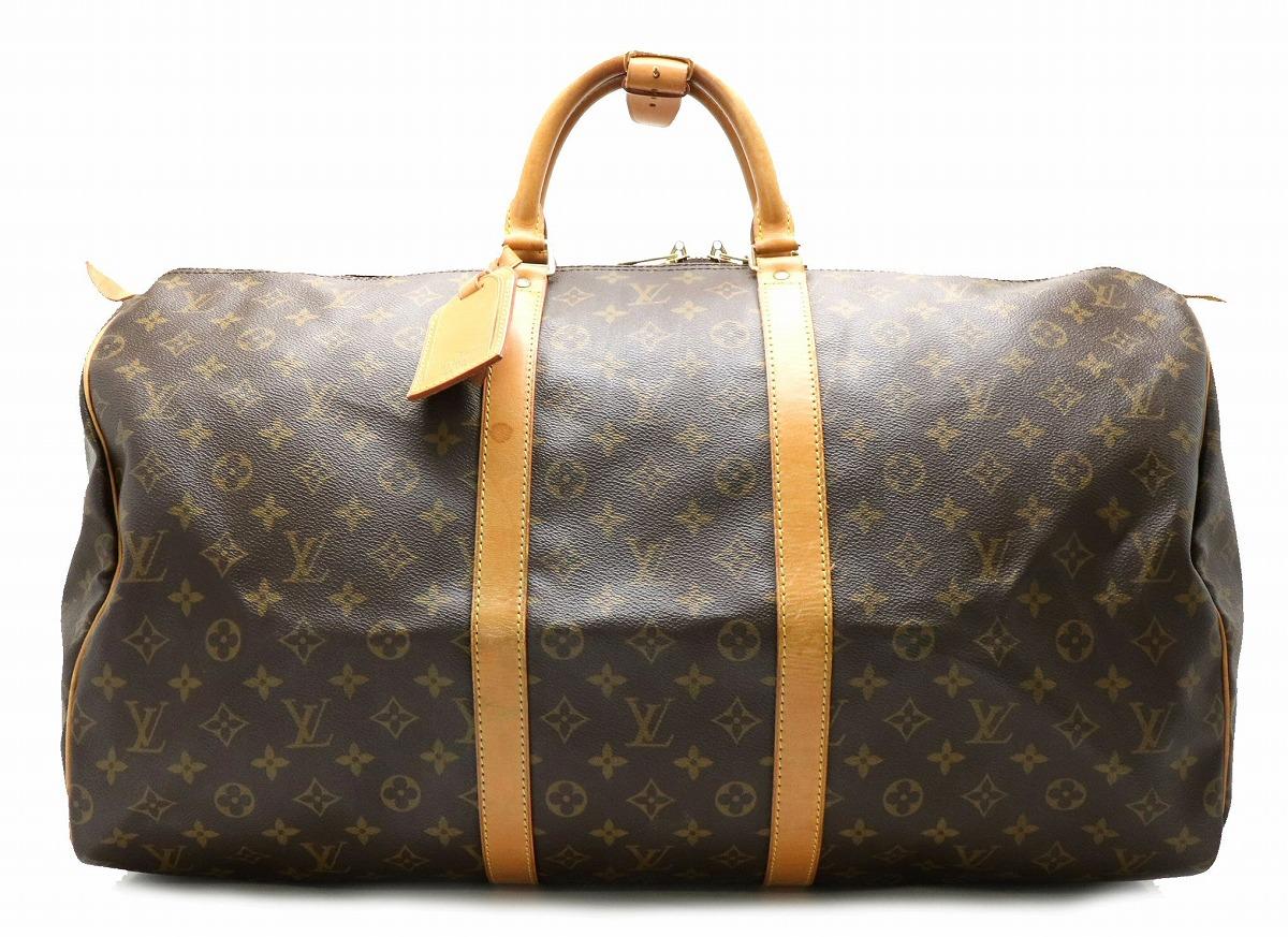 【バッグ】LOUIS VUITTON ルイ ヴィトン モノグラム キーポル55 ボストンバッグ ハンドバッグ 旅行カバン トラベルバッグ トラベルボストン M41424 【中古】