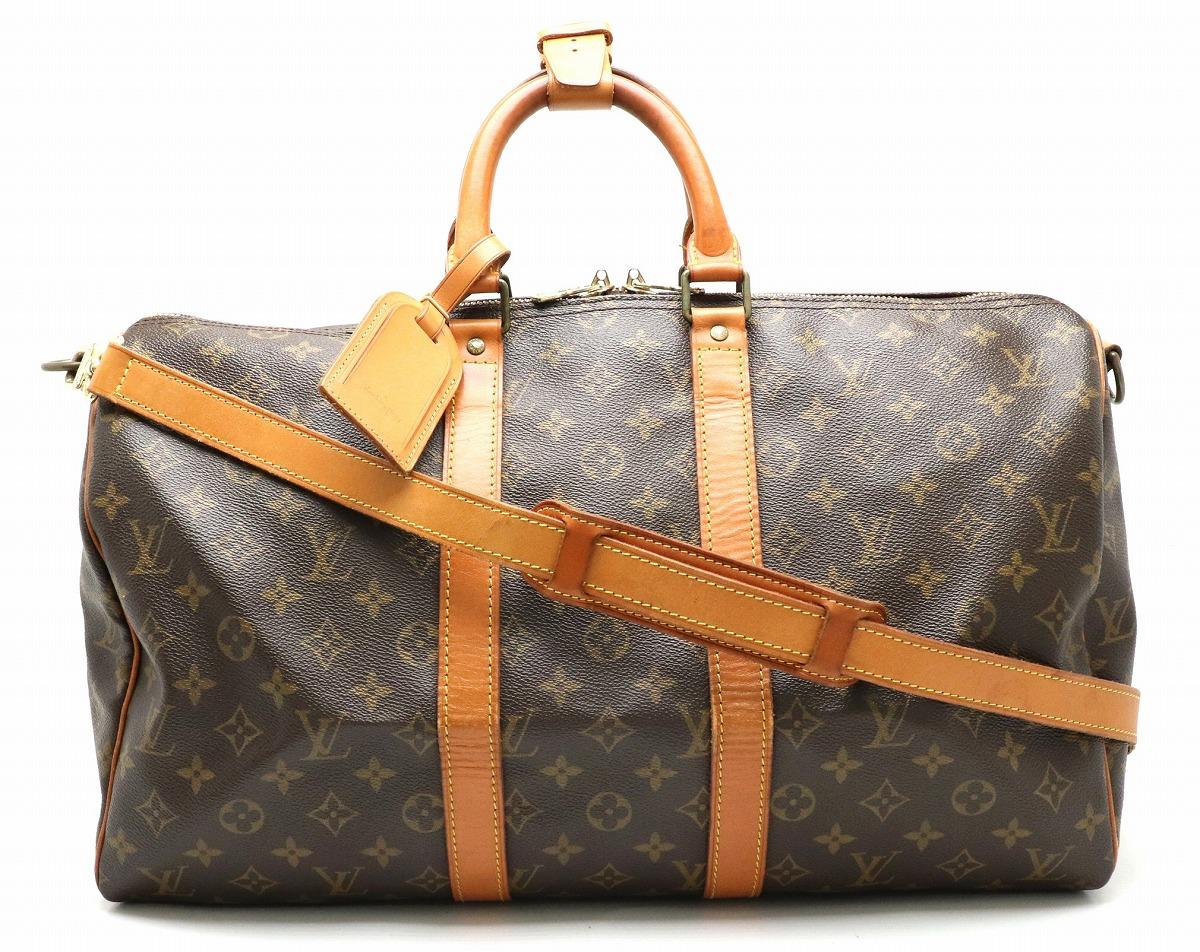 【バッグ】LOUIS VUITTON ルイ ヴィトン モノグラム キーポル バンドリエール45 ボストンバッグ ハンドバッグ ショルダーバッグ 2WAY 旅行 M41418 【中古】