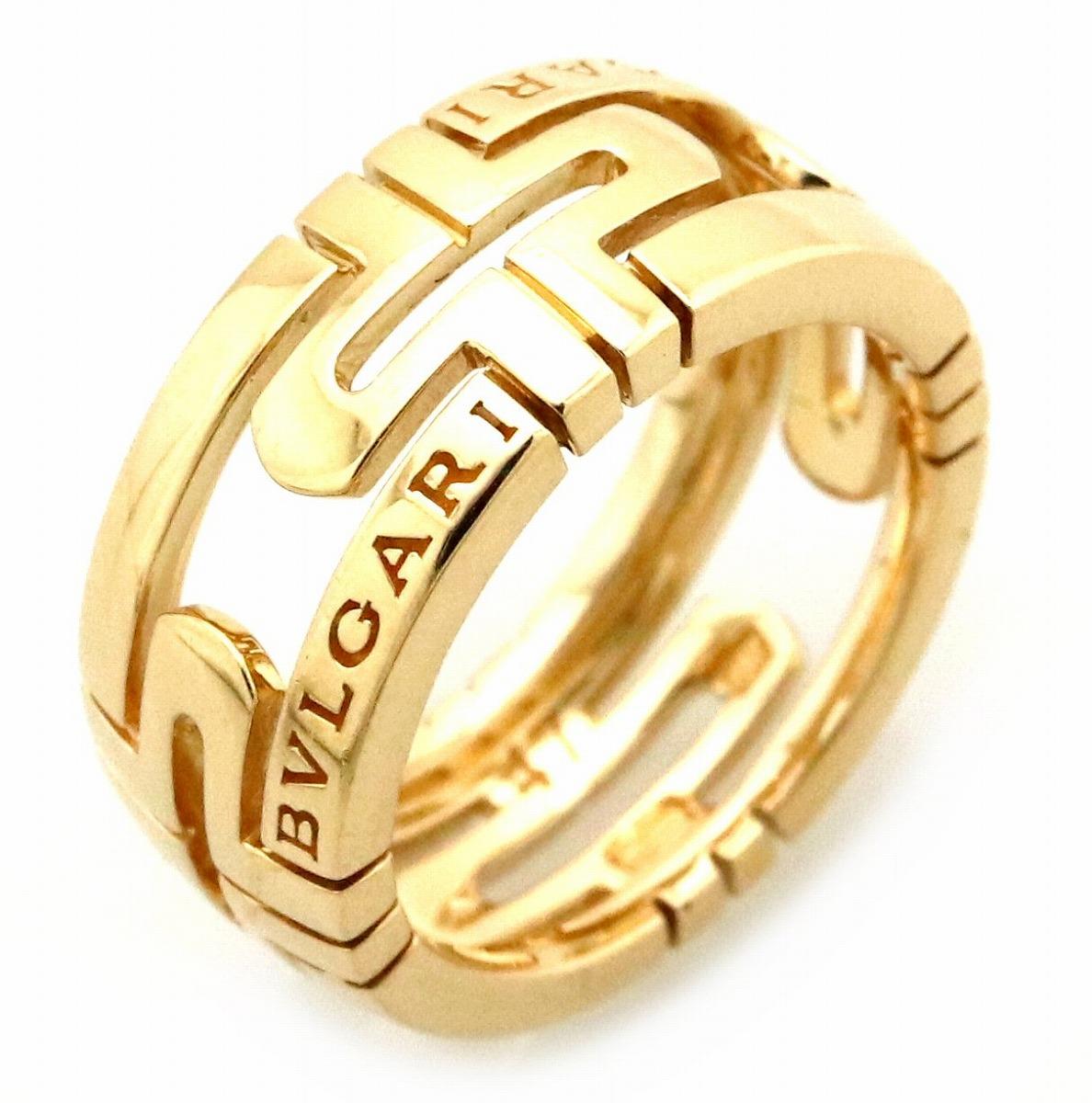 【ジュエリー】【新品仕上げ済】BVLGARI ブルガリ パレンテシリング 指輪 K18YG イエローゴールド #47 7号 AN855211 【中古】
