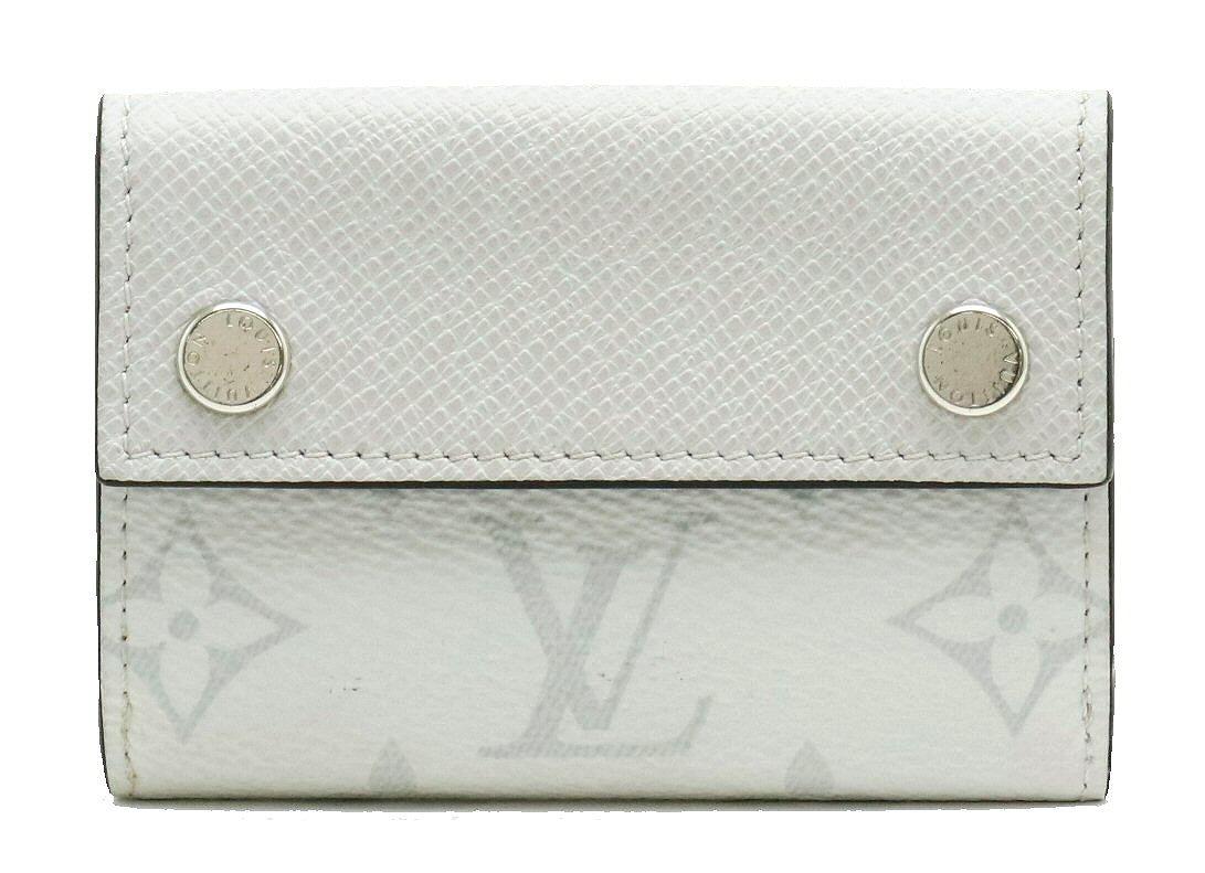 【財布】LOUIS VUITTON ルイ ヴィトン モノグラム タイガ ディスカバリー コンパクト ウォレット 3つ折財布 レザー ブロン M67621 【中古】