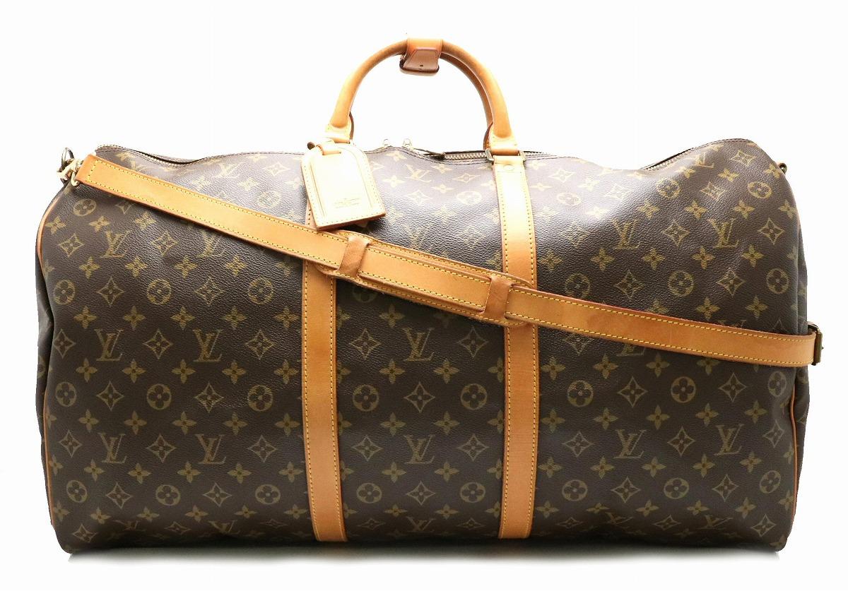 【バッグ】LOUIS VUITTON ルイ ヴィトン モノグラム キーポル バンドリエール60 ボストンバッグ 旅行カバン トラベルバッグ 2WAY ショルダー M41412 【中古】