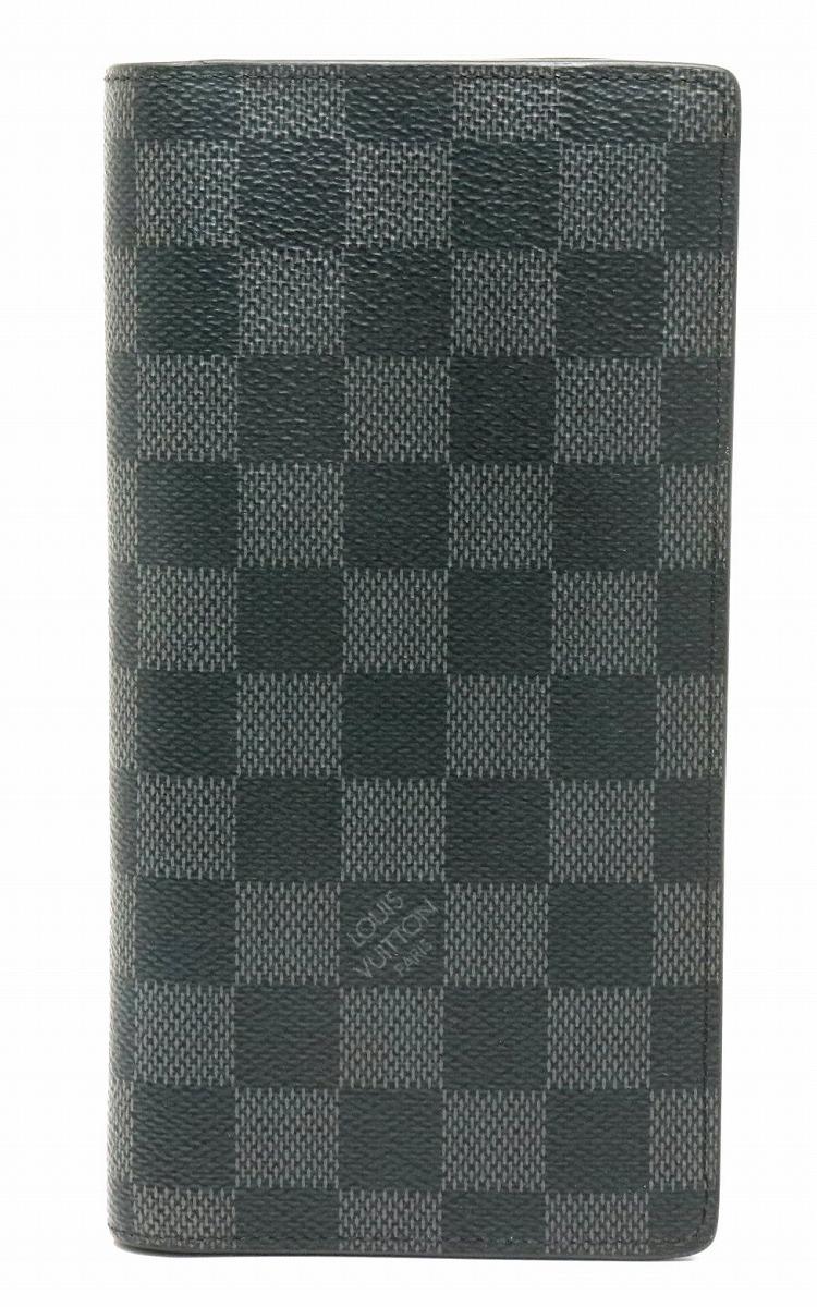 【財布】LOUIS VUITTON ルイ ヴィトン ダミエグラフィット ポルトフォイユ ブラザ 2つ折長財布 N62665 【中古】