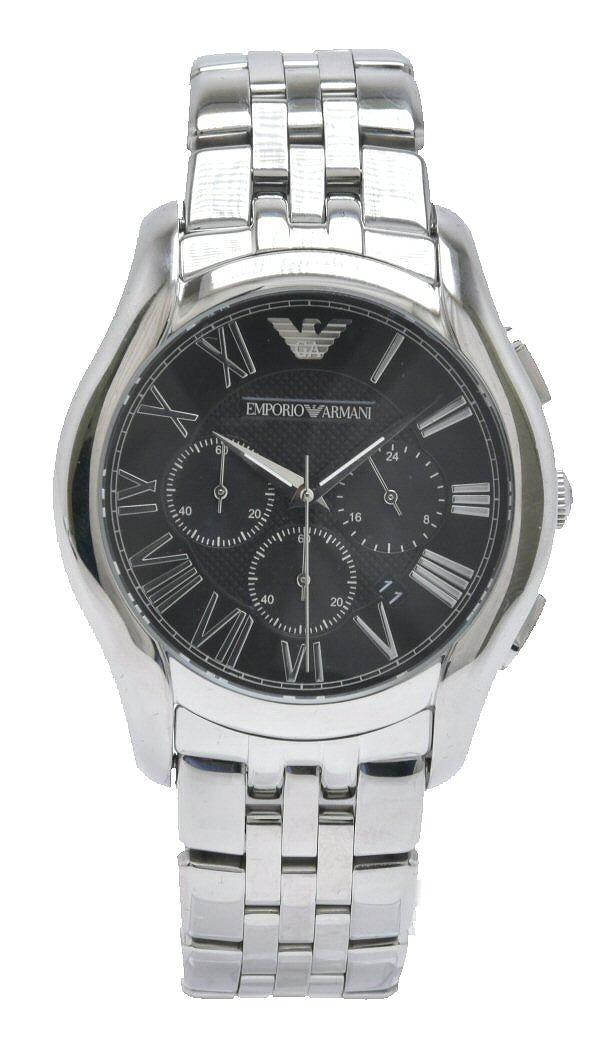 【未使用品】【ウォッチ】EMPORIO ARMANI エンポリオ アルマーニ クロノグラフ デイト ブラックダイアル クォーツ メンズ 腕時計 AR-1786 AR 1786 AR1786 【中古】