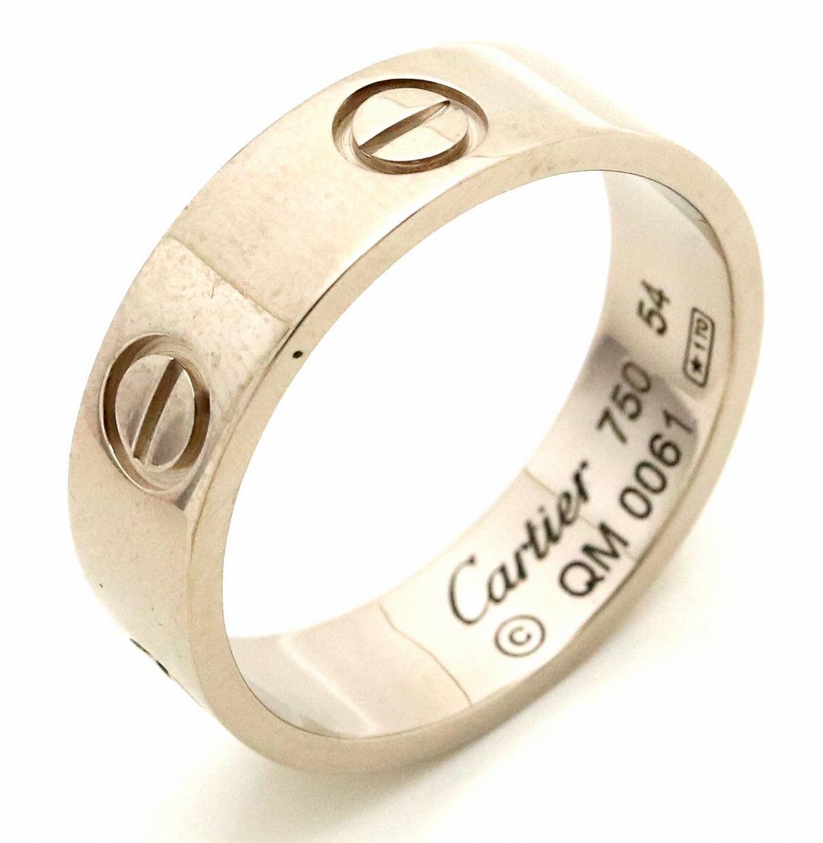 【ジュエリー】【新品仕上げ済】Cartier カルティエ ラブリング 指輪 ウエディングリング K18WG 750WG ホワイトゴールド 14号 #54 【中古】