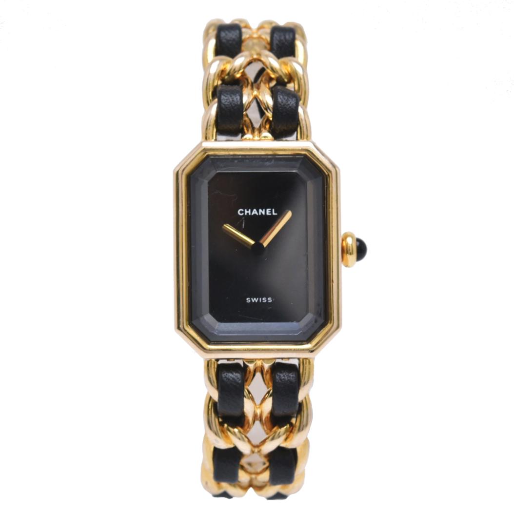 【ウォッチ】CHANEL シャネル プルミエール Sサイズ レディース 腕時計 ゴールド H0001 【中古】