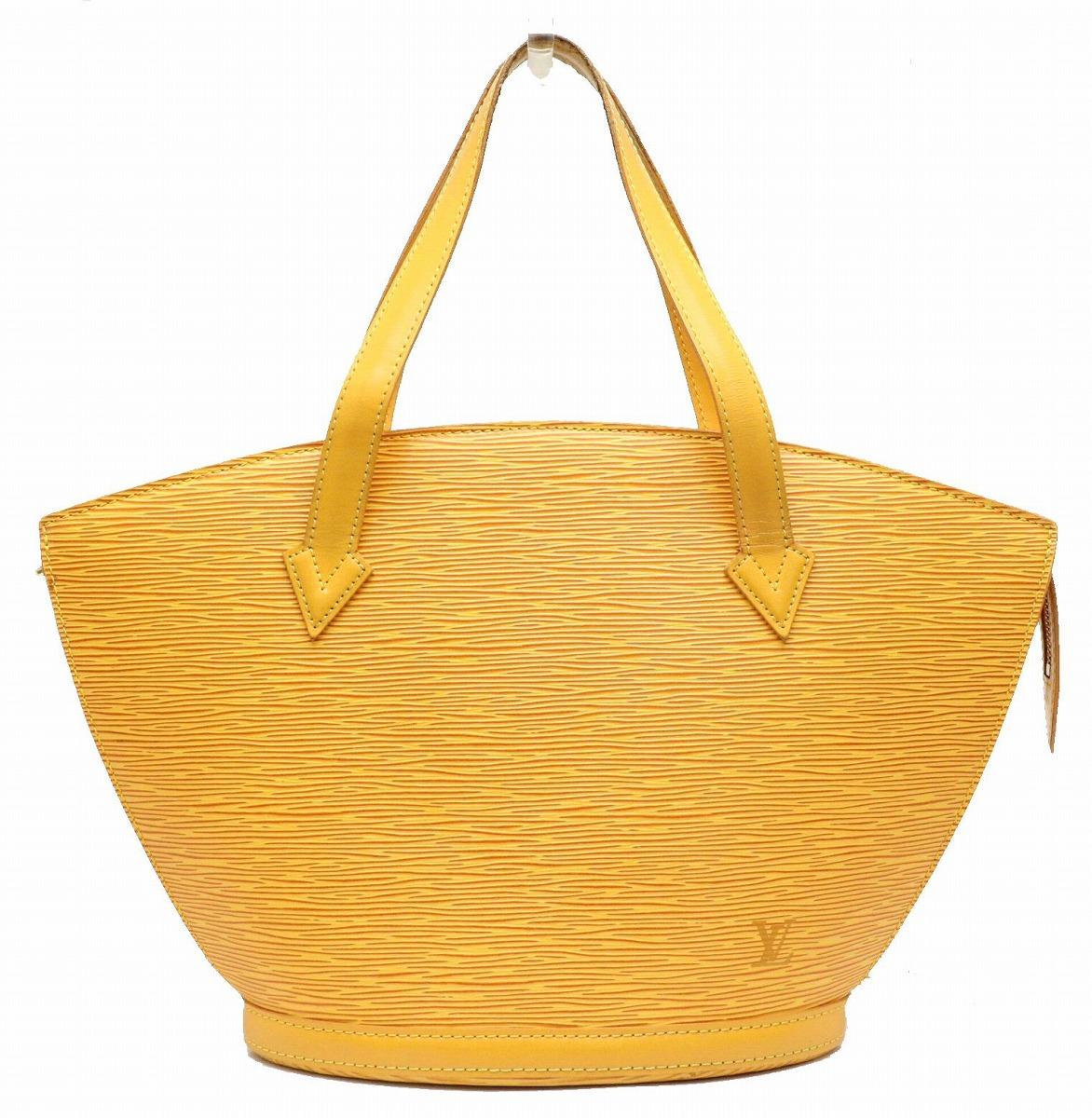 【バッグ】LOUIS VUITTON ルイ ヴィトン エピ サンジャック トートバッグ ハンドバッグ ショルダーバッグ レザー タッシリイエロー 黄色 M52279 【中古】