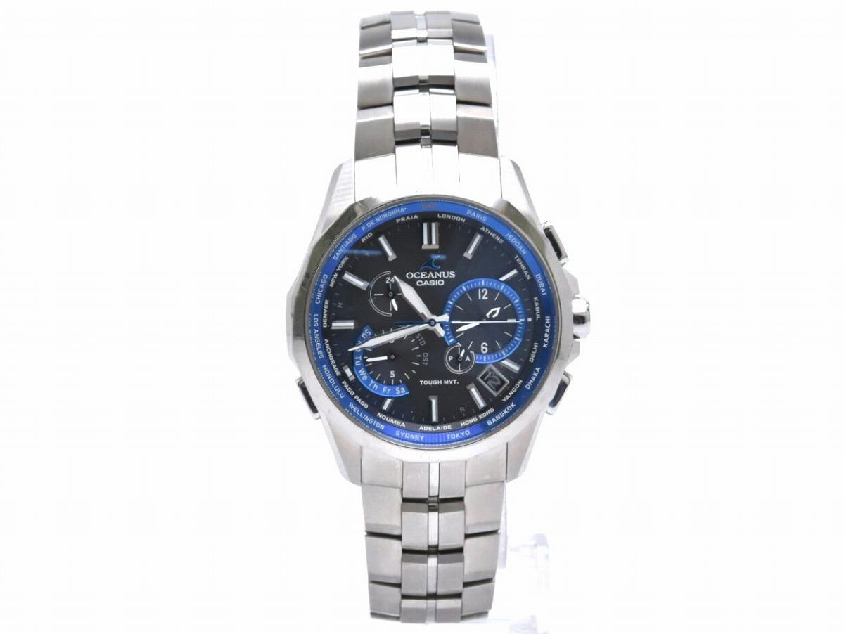 【ウォッチ】 CASIO カシオ OCEANUS オシアナス チタン メンズ 腕時計 ソーラー 電波時計 OCW-S2400-1AJF 【中古】