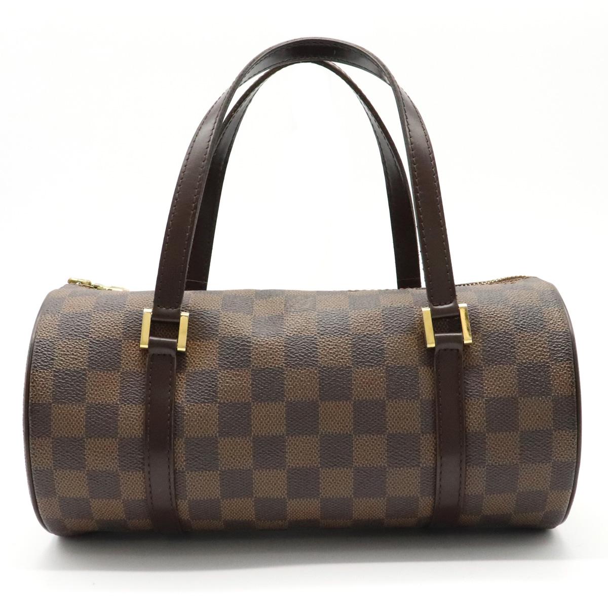 【バッグ】LOUIS VUITTON ルイ ヴィトン ダミエ パピヨンPM パピヨン26 ハンドバッグ 筒型 N51304 【中古】