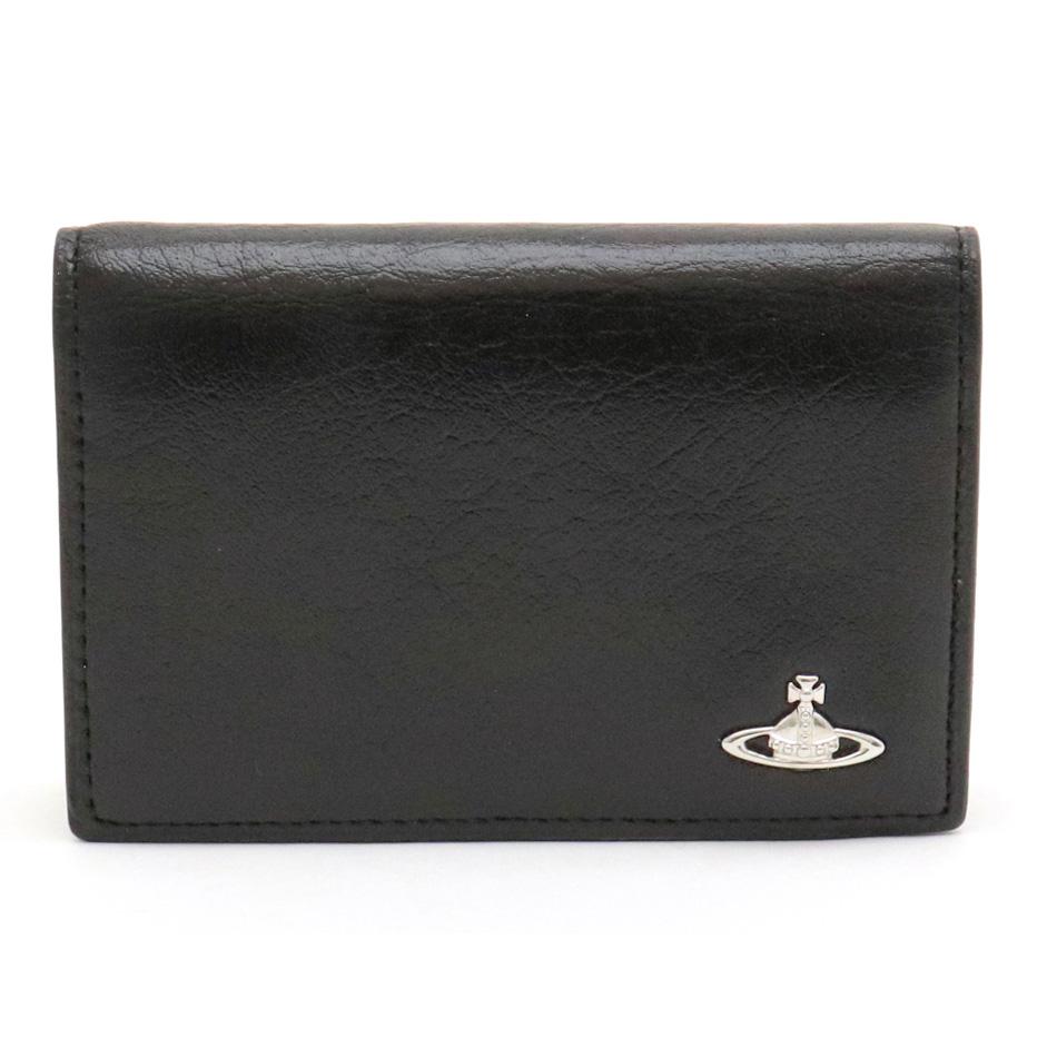 【財布】Vivienne Westwood ヴィヴィアン ウエストウッド カードケース パスケース IDケース レザー ブラック 黒 VWK293 【中古】