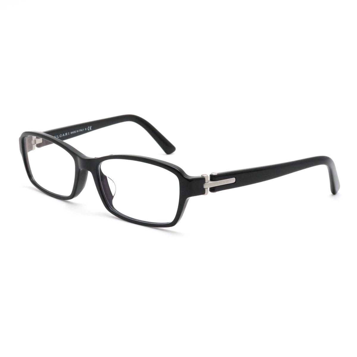 BVLGARI ブルガリ BVLGARI ブルガリ 眼鏡 めがね メガネ ブラックフレーム スクエア ブルーライトカットレンズ 黒 56□17 140 3025-D 【中古】