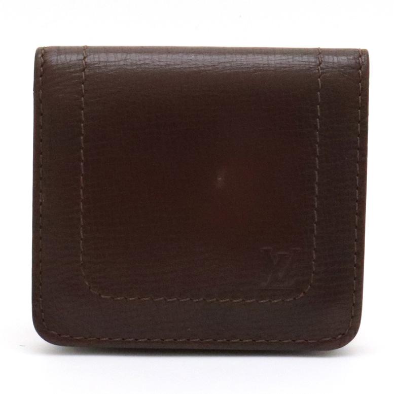 【財布】LOUIS VUITTON ルイ ヴィトン ユタ ポルトビエ 3カルトクレディ レザー 2つ折り財布 財布 カフェ 茶 M92996 【中古】