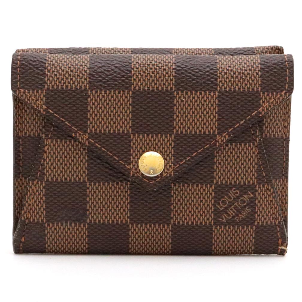 【財布】LOUIS VUITTON ルイ ヴィトン ダミエ ポルトフォイユ オリガミ コンパクト 2つ折財布 N63099 【中古】