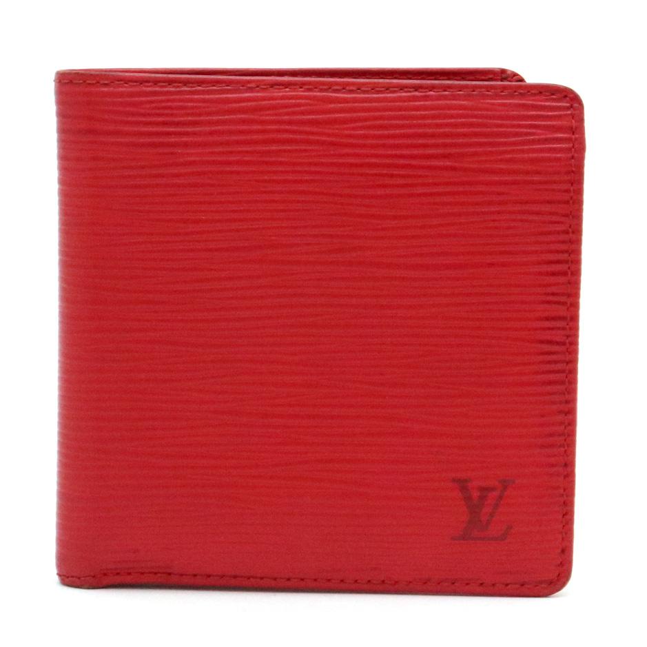 【財布】LOUIS VUITTON ルイ ヴィトン エピ ポルト ビエ カルト クレディ モネ 2つ折財布 レザー カスティリアンレッド 赤 M63547 【中古】