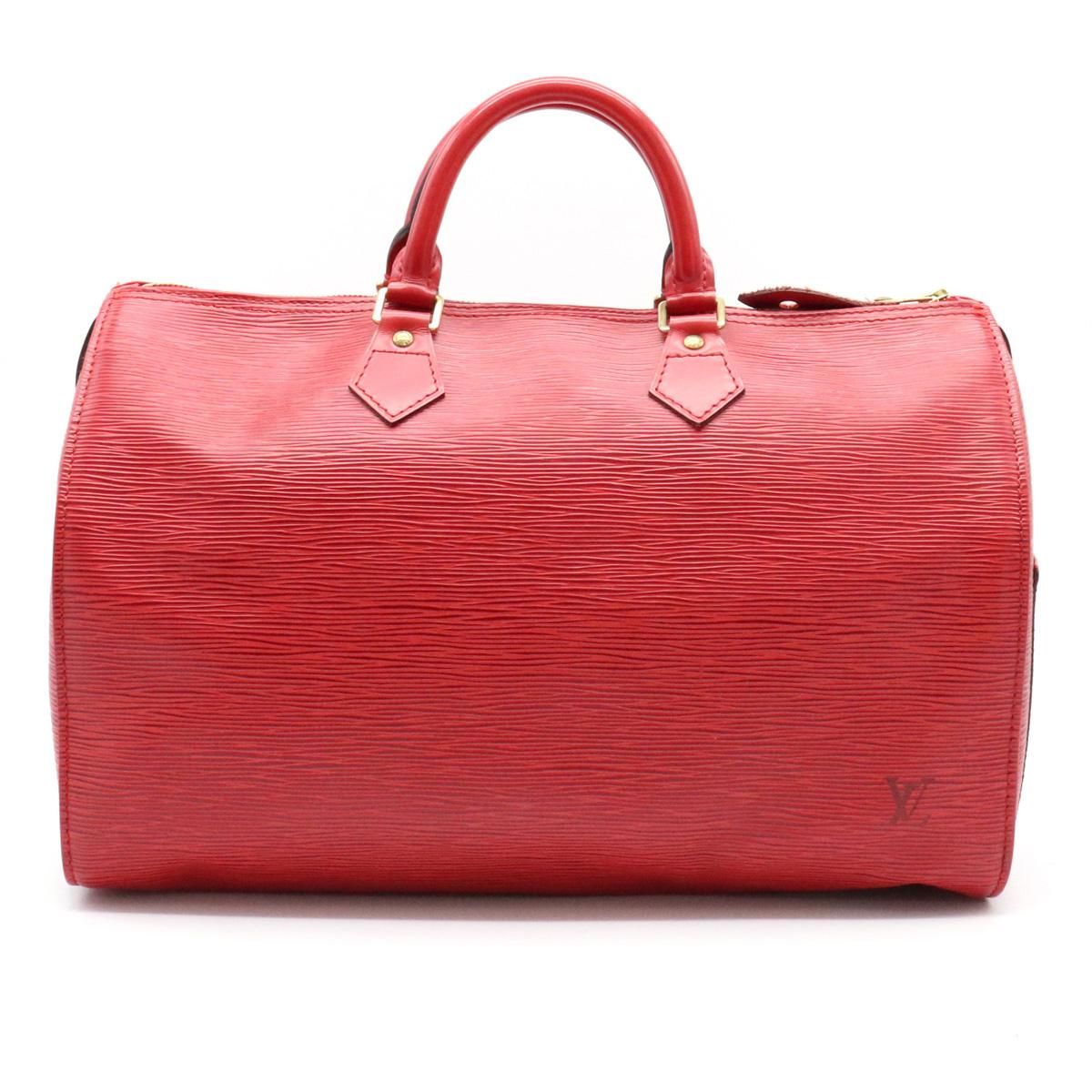 【バッグ】LOUIS VUITTON ルイ ヴィトン エピ スピーディ35 ハンドバッグ ボストンバッグ カスティリアンレッド レッド 赤 M42997 【中古】