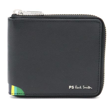 【新品未使用品】【財布】Paul Smith ポール スミス ポールスミス 二つ折り財布 財布 メンズ レザー ブラック 黒 マルチストライプ マルチカラー M2A-6144-APSSTR