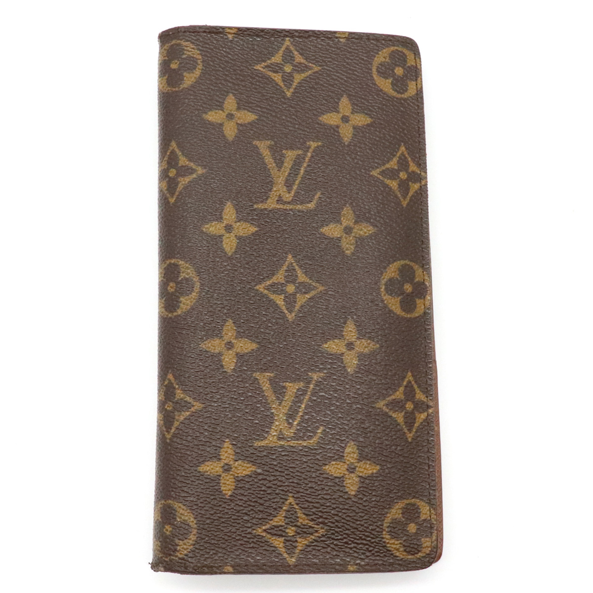【財布】LOUIS VUITTON ルイ ヴィトン モノグラム ポルトフォイユ ブラザ 2つ折ファスナー長財布 M66540 【中古】
