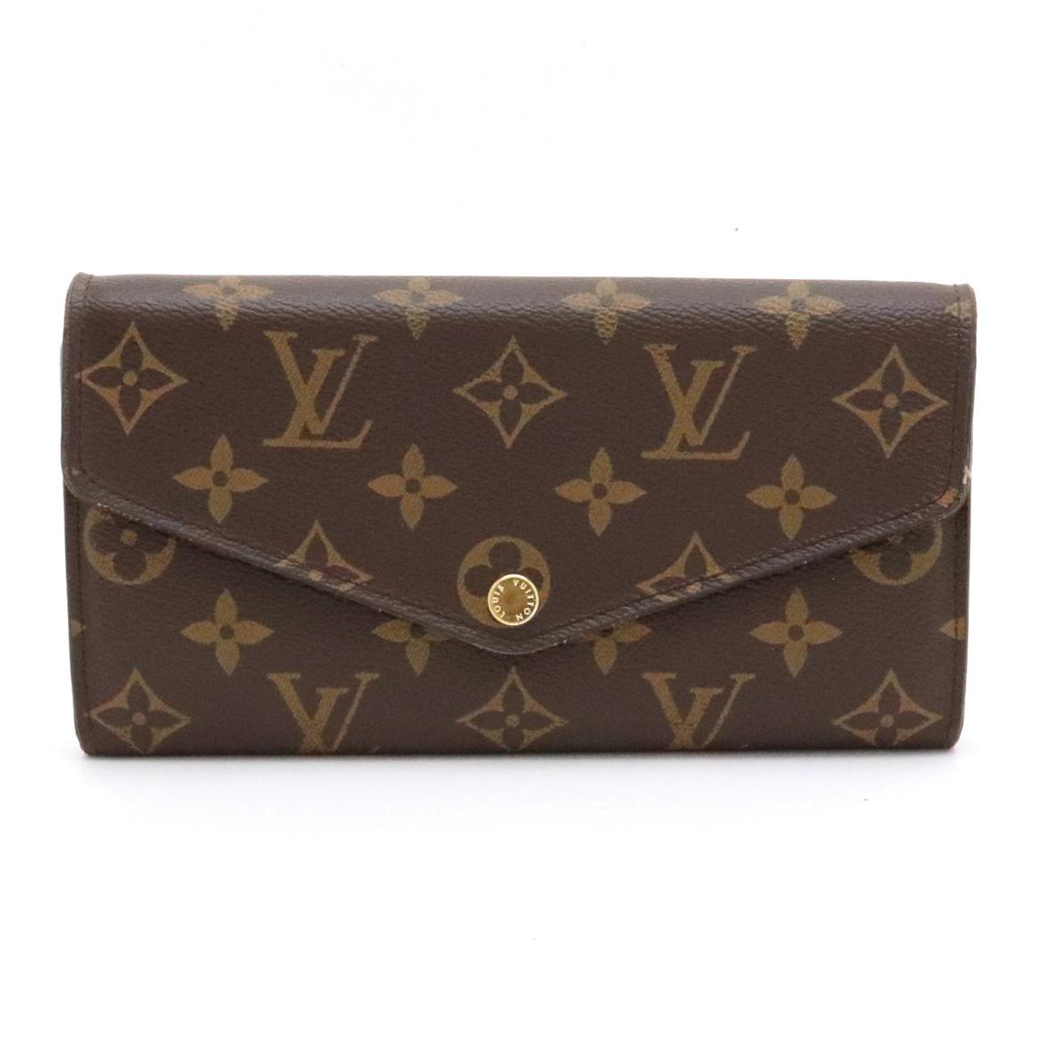【財布】LOUIS VUITTON ルイ ヴィトン モノグラム ポルトフォイユ サラ 2つ折 二つ折 ファスナー長財布 M60531 【中古】