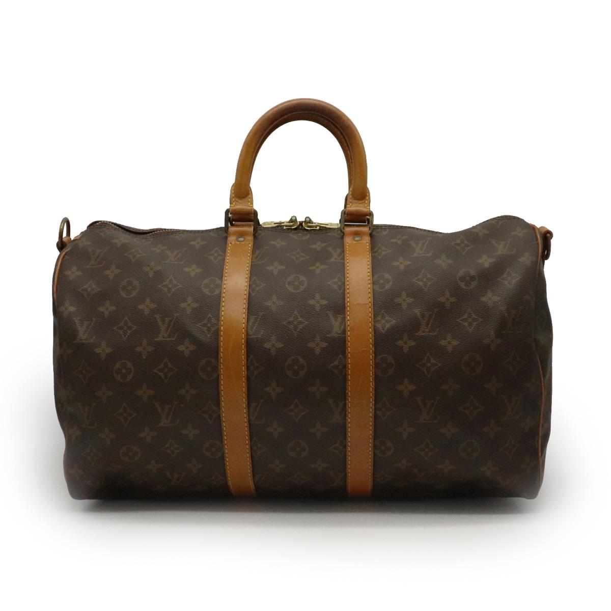 【バッグ】LOUIS VUITTON ルイ ヴィトン モノグラム キーポル バンドリエール45 ボストンバッグ ハンドバッグ 旅行カバン ストラップ欠品 M41418 【中古】