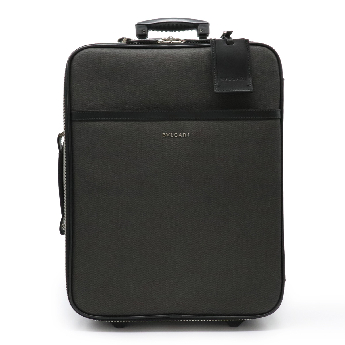 【バッグ】BVLGARI ブルガリ ウィークエンド キャリーバッグ スーツケース トラベルバッグ 旅行用 PVC レザー 黒 ブラック ダークグレー 32248 【中古】