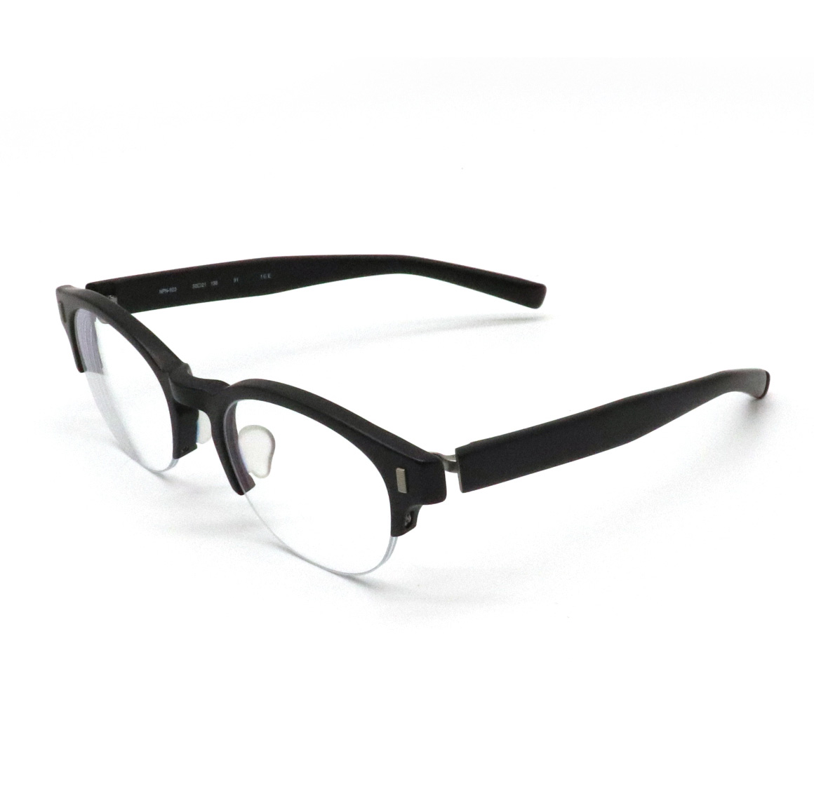 999.9 フォー ナインズ フォーナインズ 眼鏡 めがね メガネ 度入り ブラック 50□21 138 NPN-923 【中古】