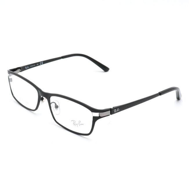 【未使用品】RayBan レイバン メガネフレーム 眼鏡フレーム クリア ブラック 黒 シルバー金具 54□16 140 RB8727 【中古】