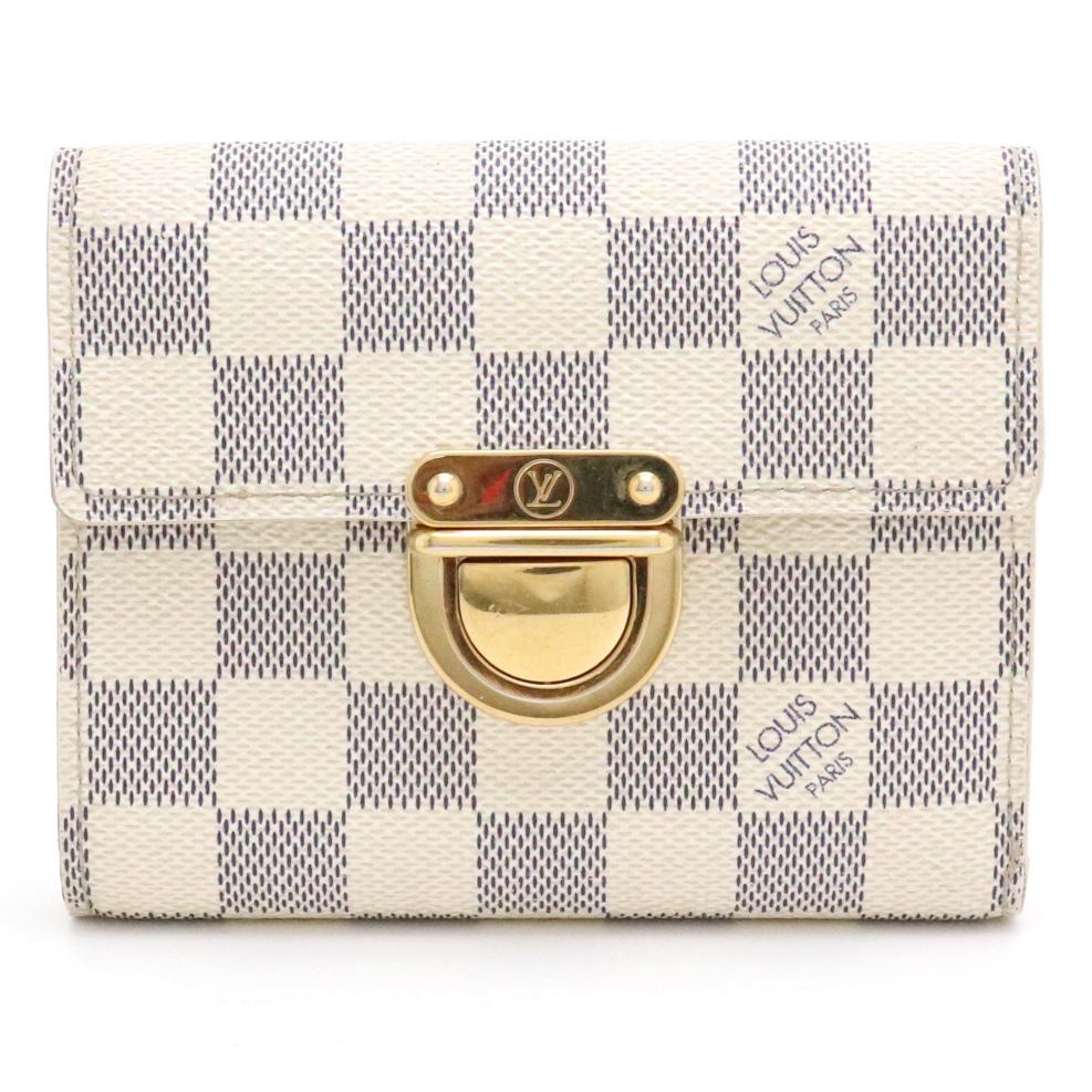 【財布】LOUIS VUITTON ルイ ヴィトン ダミエアズール コアラ 3つ折財布 N60013 【中古】