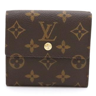 【財布】LOUIS VUITTON ルイ ヴィトン モノグラム ポルトフォイユ エリーズ ダブルホック財布 Wホック財布 ベタなし M61654 【中古】