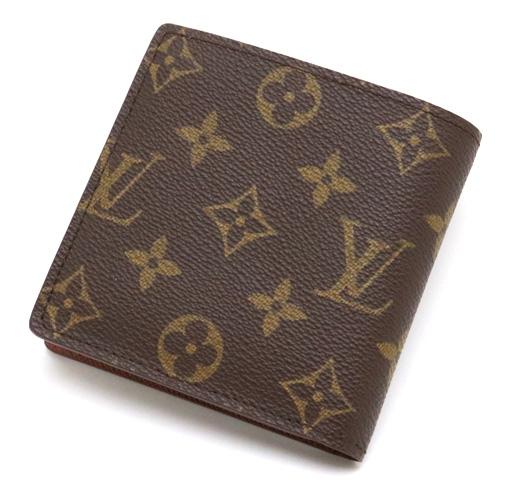【財布】LOUIS VUITTON ルイ ヴィトン モノグラム ポルトフォイユ マルコ 2つ折財布 M61675 【中古】