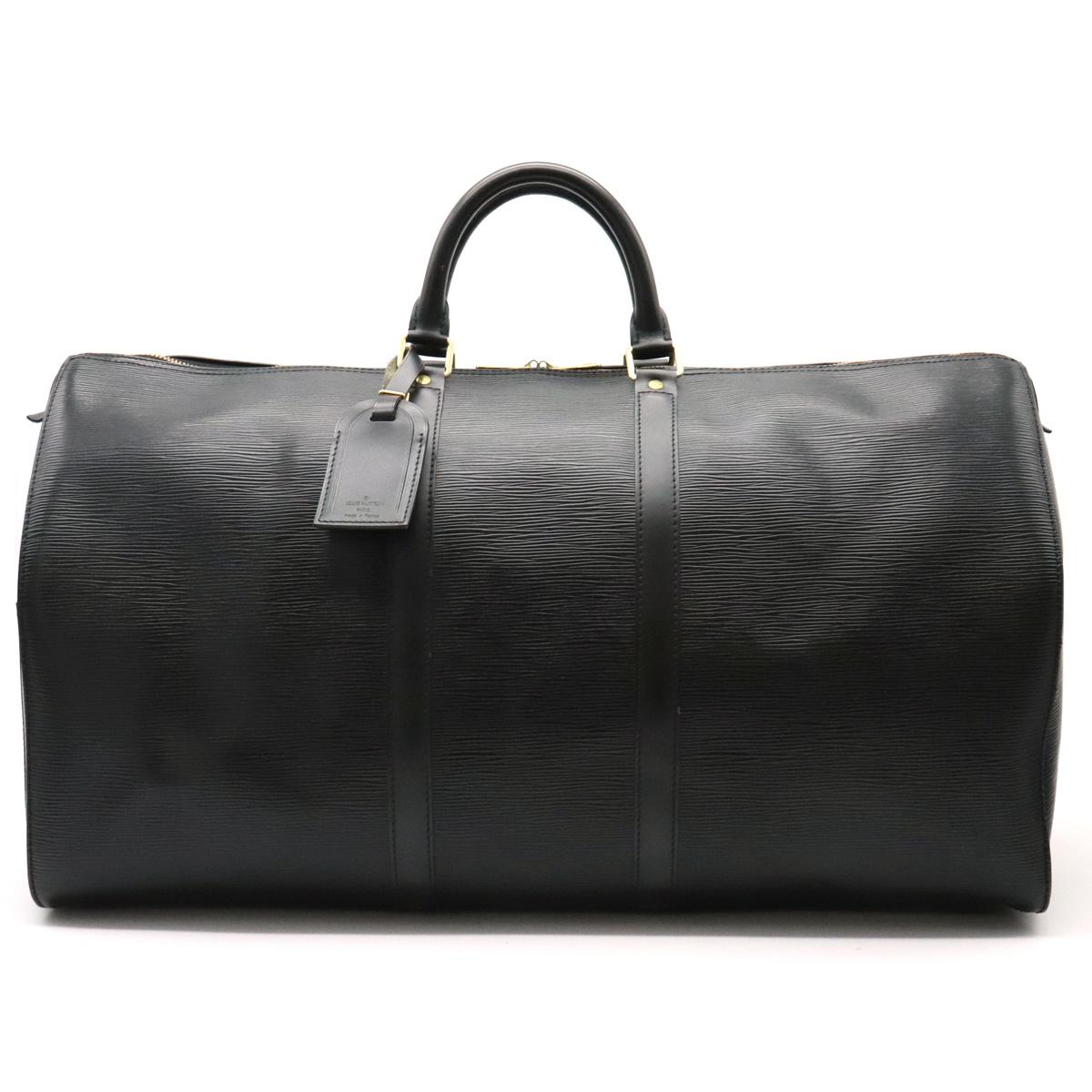 【バッグ】LOUIS VUITTON ルイ ヴィトン エピ キーポル55 ボストンバッグ トラベルバッグ トラベルボストン 旅行カバン ノワール 黒 ブラック M59142 【中古】
