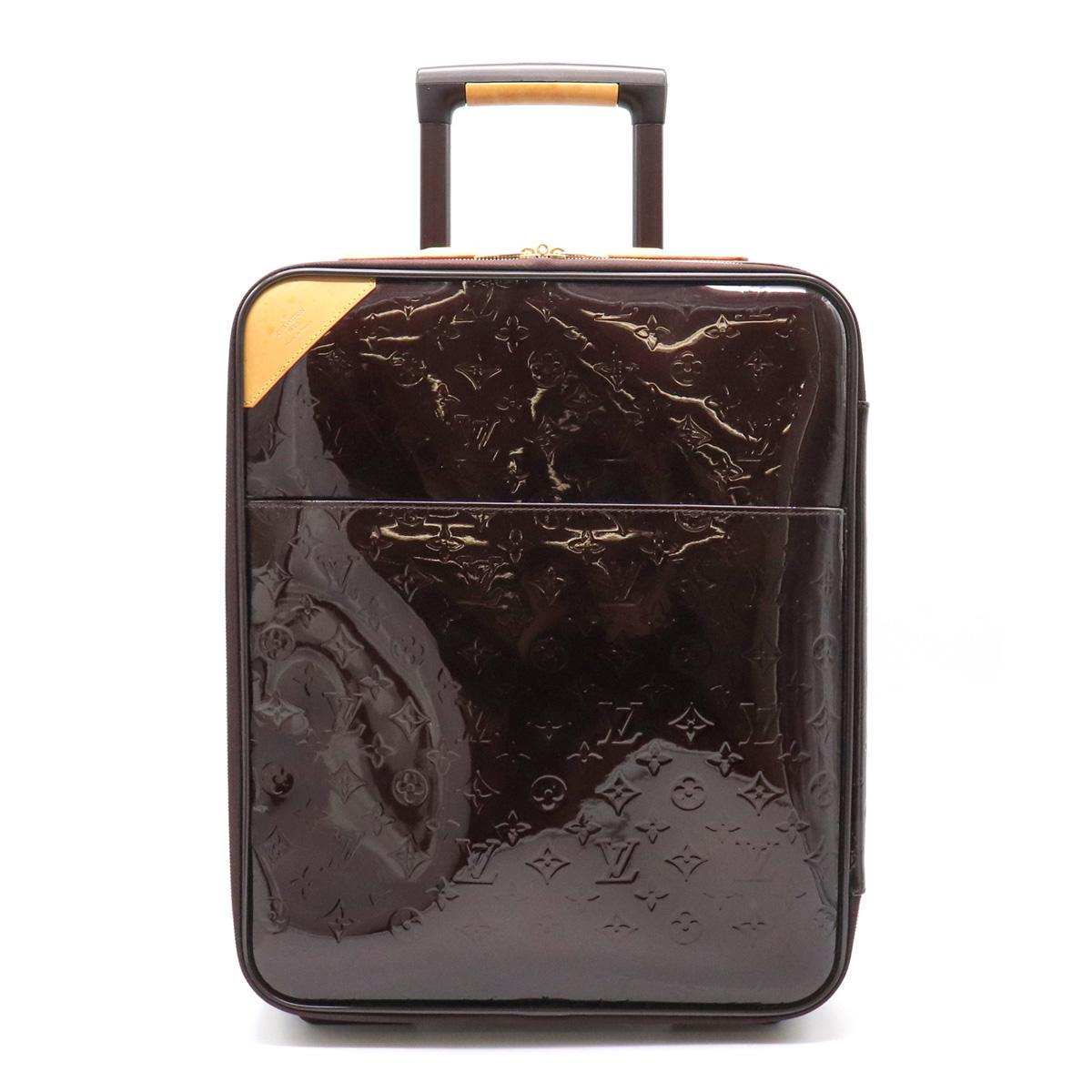 【バッグ】LOUIS VUITTON ルイ ヴィトン モノグラムヴェルニ ペガス45 スーツケース キャリーバッグ トラベルケース 旅行 エナメル アマラント M91277 【中古】