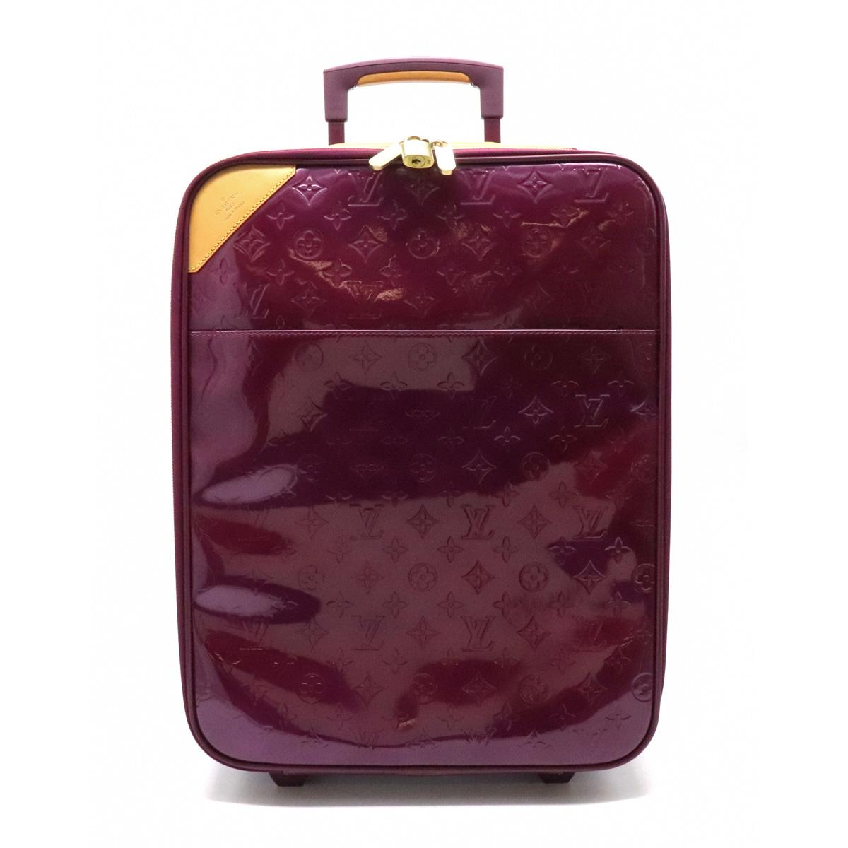 【バッグ】LOUIS VUITTON ルイ ヴィトン モノグラムヴェルニ ペガス45 スーツケース キャリーバッグ トラベルケース 旅行 エナメル ヴィオレット 【中古】