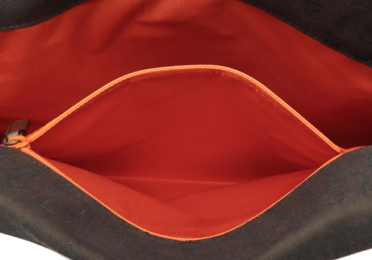 未使用品バッグ BVLGARI ブルガリ ロゴマニア トートバッグ ハンドバッグ キャンバス レザー ダークブラウン 茶 ポーチ付 22284YDEHeW29I