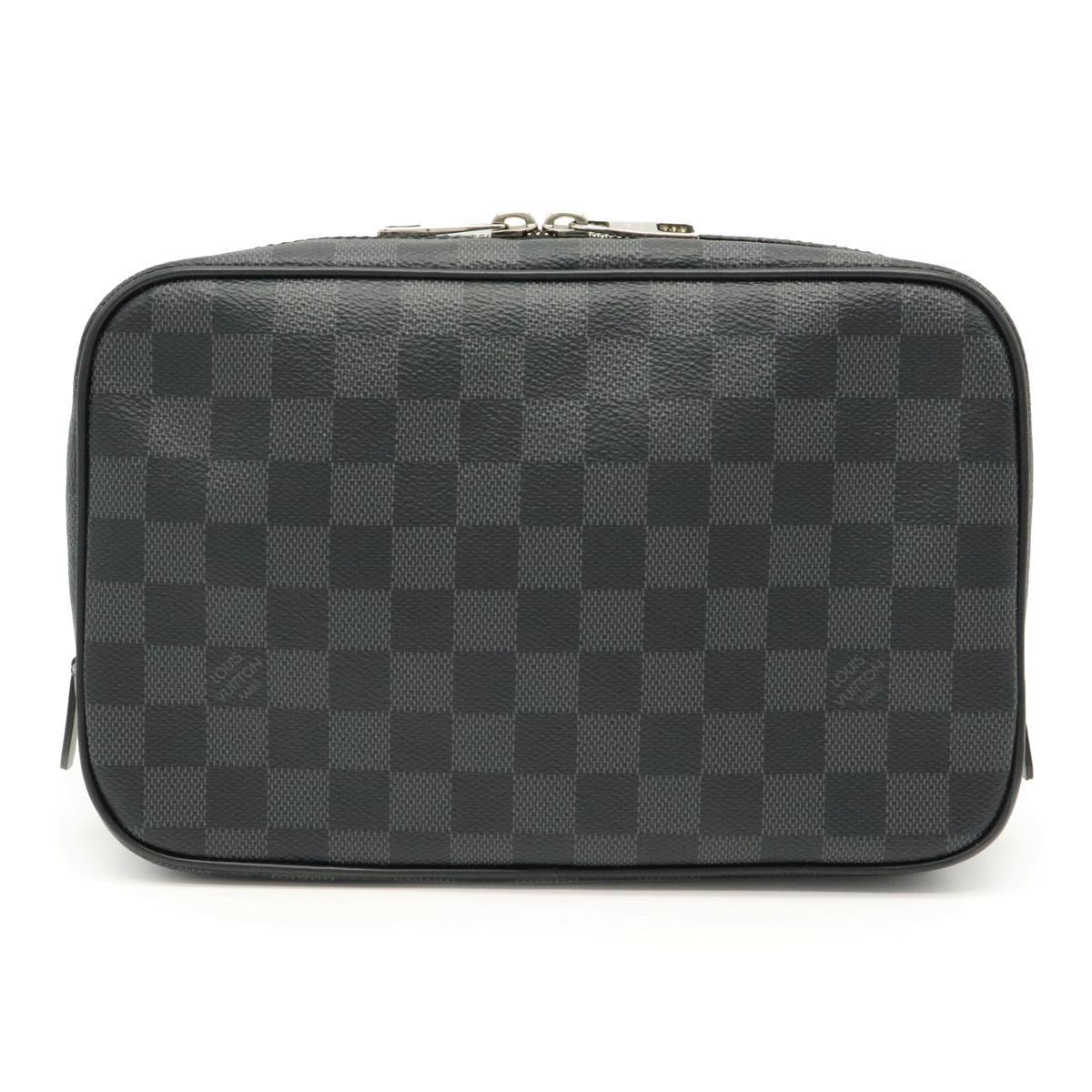 Sランク品 バッグ LOUIS VUITTON セール商品 世界の人気ブランド ルイ ヴィトン ダミエグラフィット トゥルース 化粧ポーチ トワレGM セカンドバッグ 中古 小物入れ N47521 ポーチ