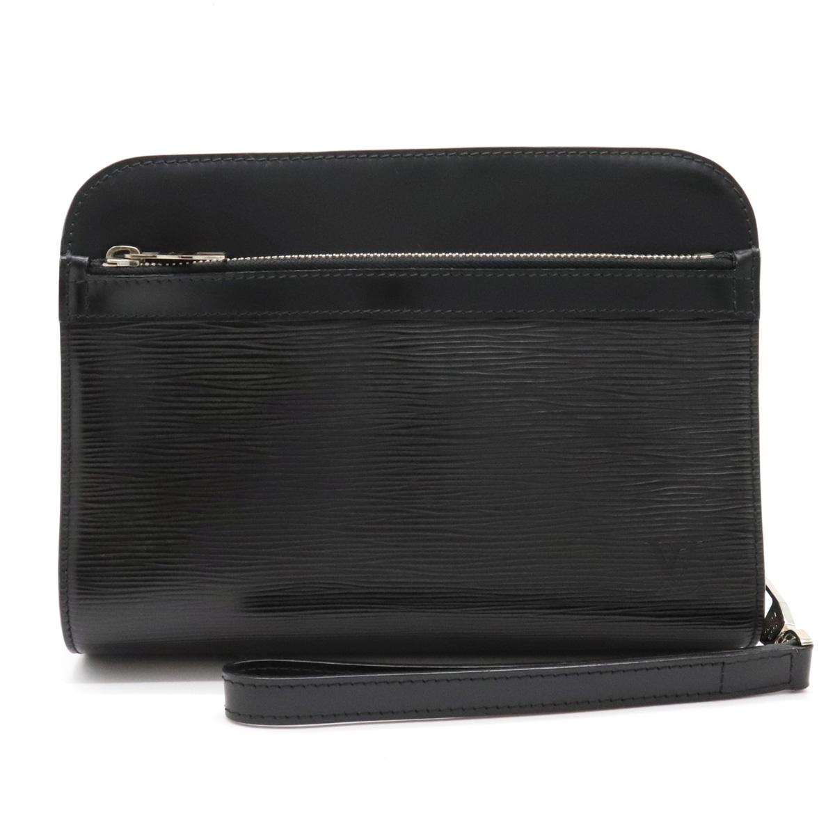 バッグ LOUIS VUITTON ルイ ヴィトン エピ オシュ セカンドバッグ 中古 黒 即出荷 レザー ノワール M59362 公式 シルバー金具 クラッチバッグ ブラック