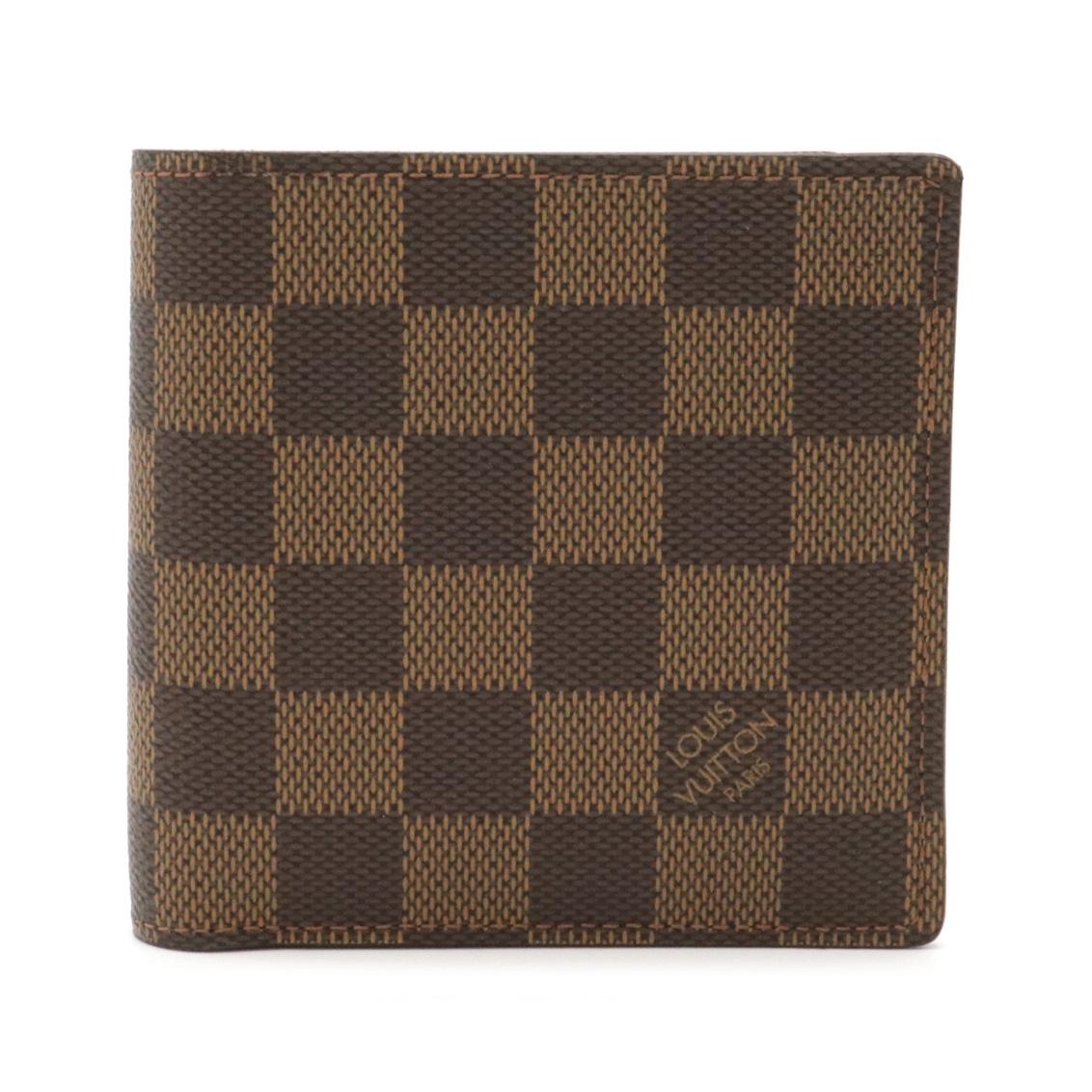 Sランク品 財布 LOUIS VUITTON ルイ ヴィトン ダミエ 公式ストア ポルトフォイユ 二つ折財布 中古 マルコ N61675 送料無料お手入れ要らず 2つ折財布
