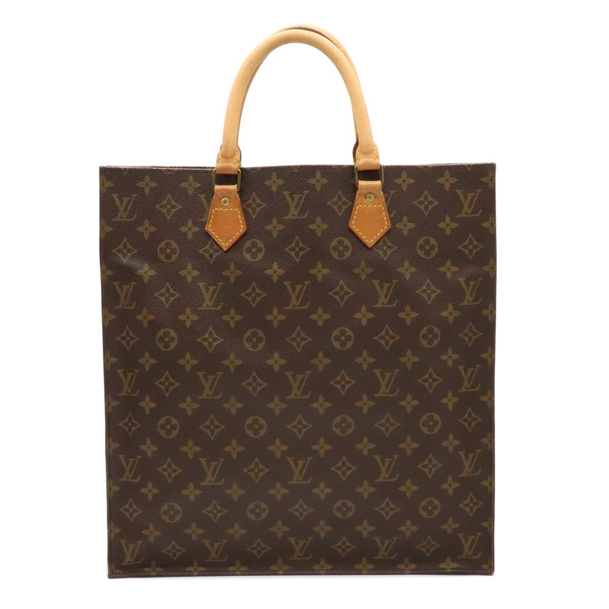 バッグ LOUIS VUITTON ルイ ヴィトン モノグラム サックプラ ショッピングバッグ ハンドバッグ 中古 トートバッグ 無料 ビジネスバッグ スクエア型 M51140 店内全品対象