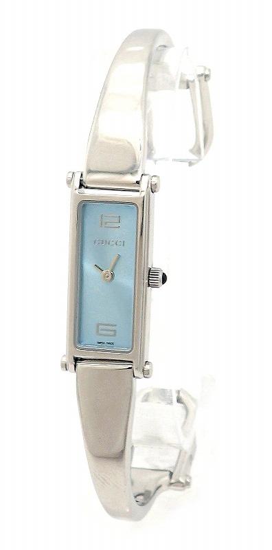 【ウォッチ】GUCCI グッチ ブルー文字盤 シルバー SS レディース QZ クォーツ 腕時計 1500L 【中古】【u】【Blumin 市場店】