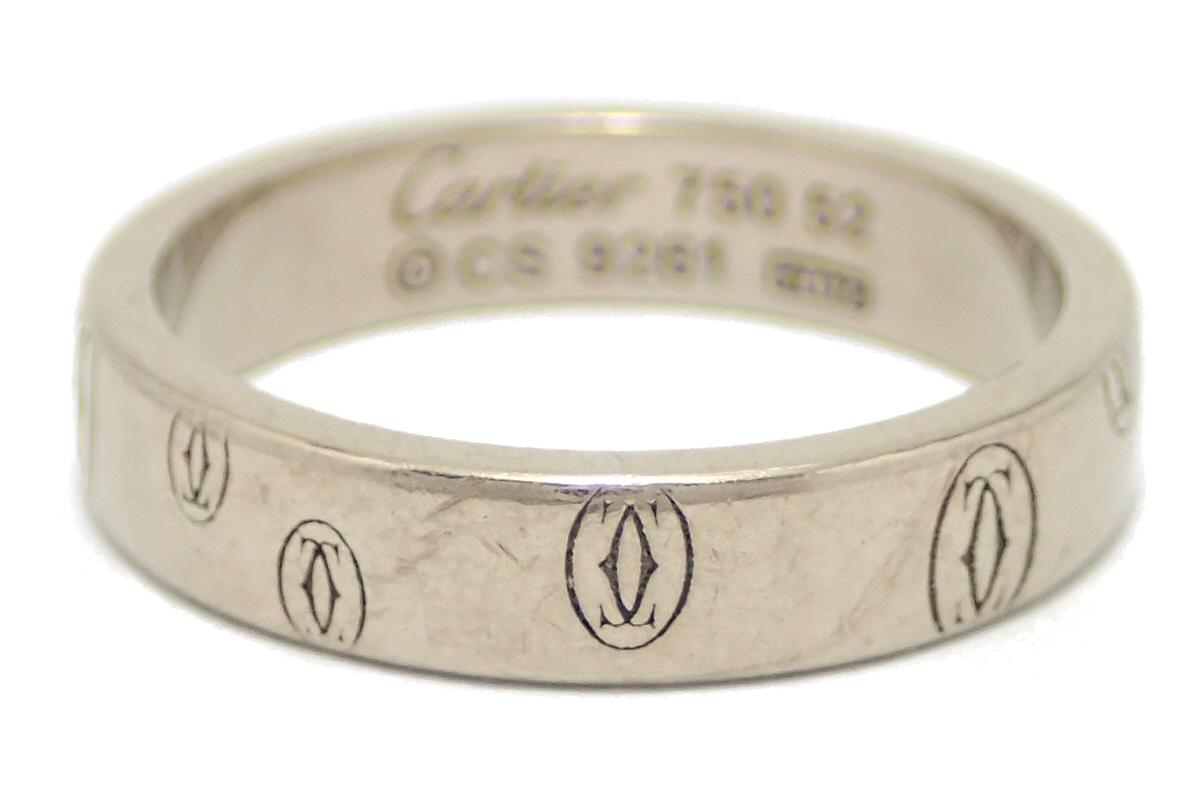 【ジュエリー】Cartier カルティエ ハッピーバースデー ウェディング リング 指輪 12号 #52 K18WG ホワイトゴールド ハッピーバースデイ B4050900 B4050952 【中古】【u】