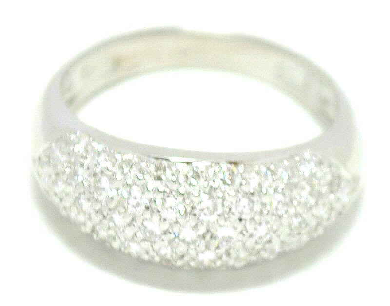 【中古】【ジュエリー】【新品仕上げ済】 K18WG ホワイトゴールド 指輪 ダイヤモンド ファッションリング ダイヤ1.00ct 12.5号 【Blumin/森田質店】【質屋出品】【u】