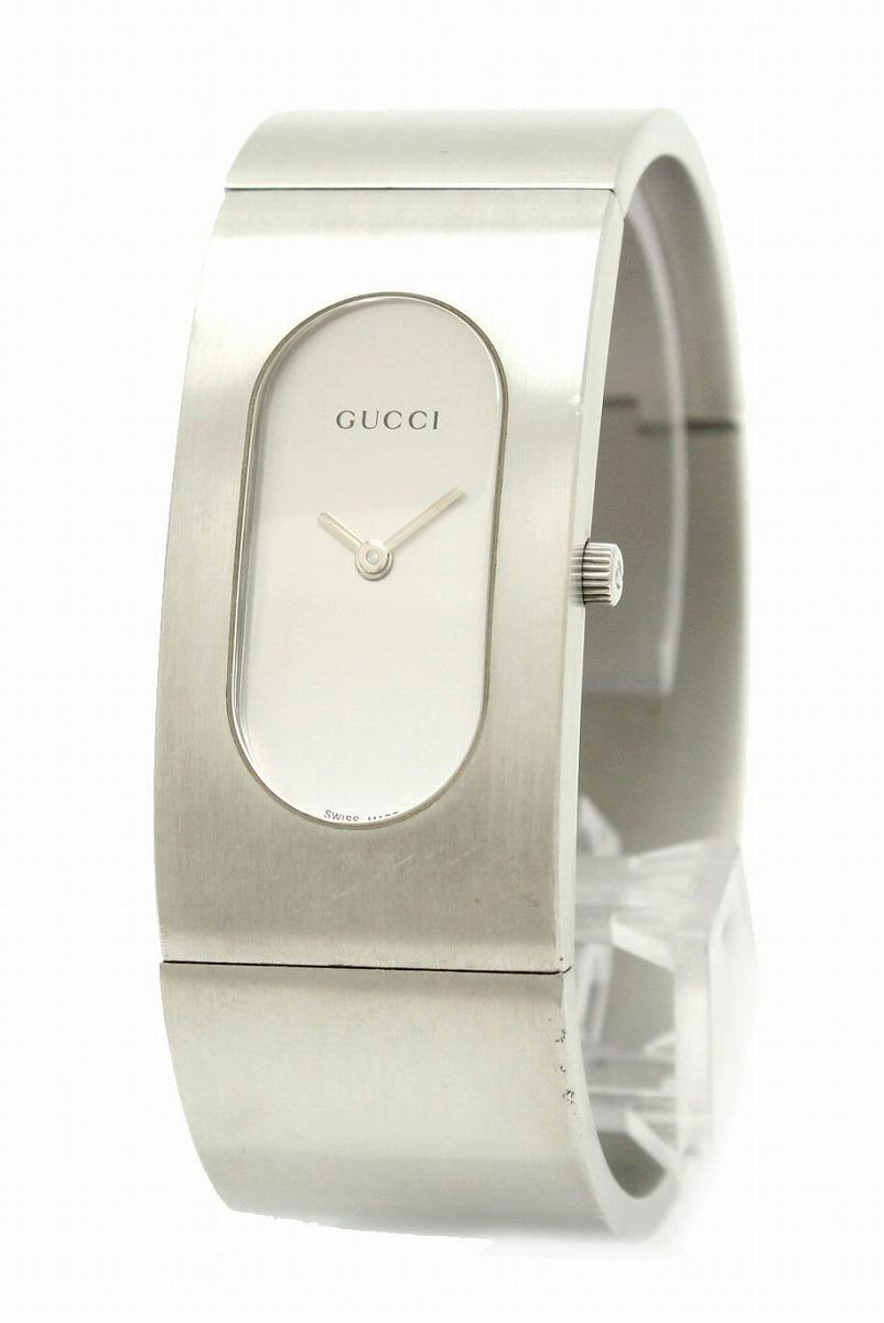 【ウォッチ】GUCCI グッチ バングル ウォッチ ホワイト文字盤 レディース クォーツ 腕時計 2400L 【中古】【u】【Blumin/森田質店】【質屋出店】