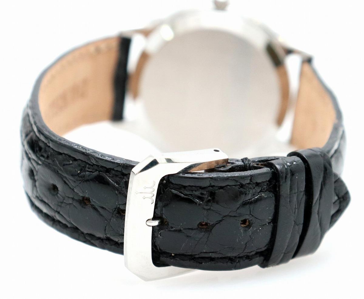 ウォッチOH済み SEIKO セイコー CREDOR クレドール シルバー文字盤 SS クロコ メンズ AT オートマ 腕時計 4S71 0010kZulwkiOPXT