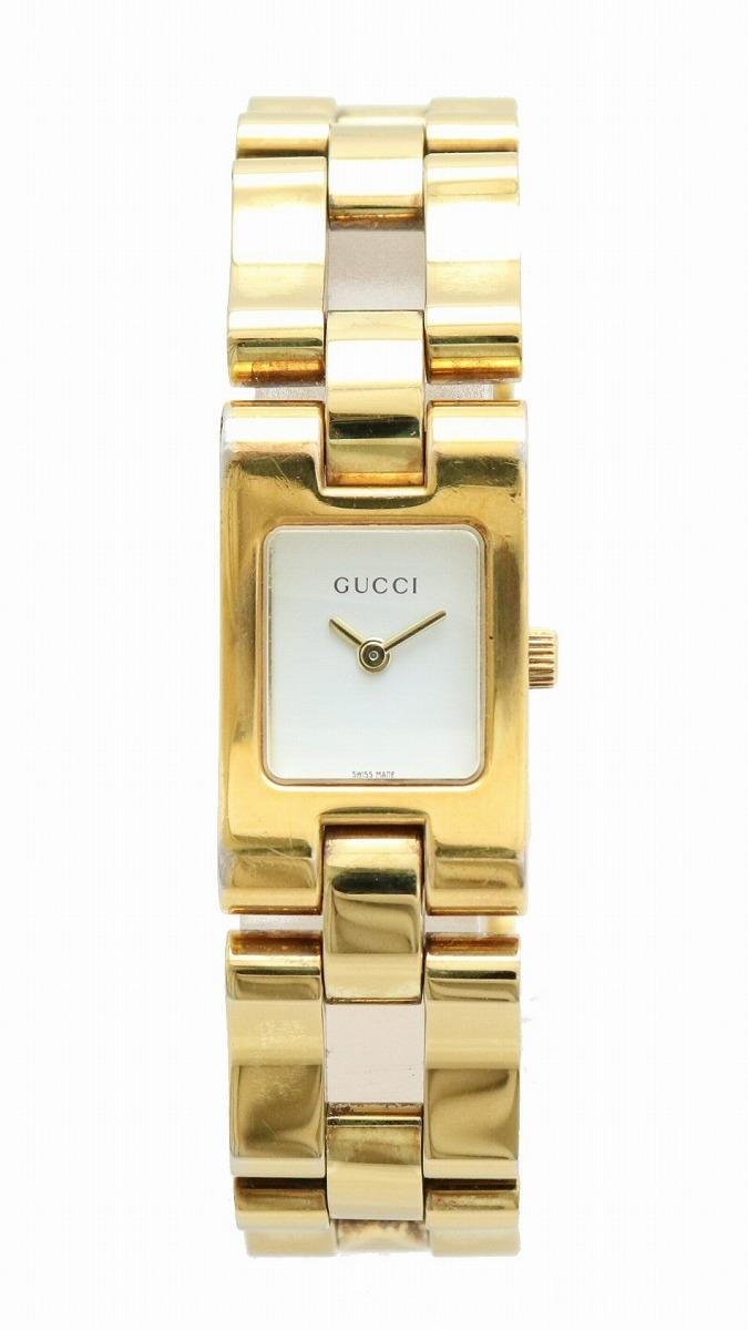 【ウォッチ】GUCCI グッチ ホワイト文字盤 ゴールド GP レディース クォーツ 腕時計 2305L 【中古】【u】
