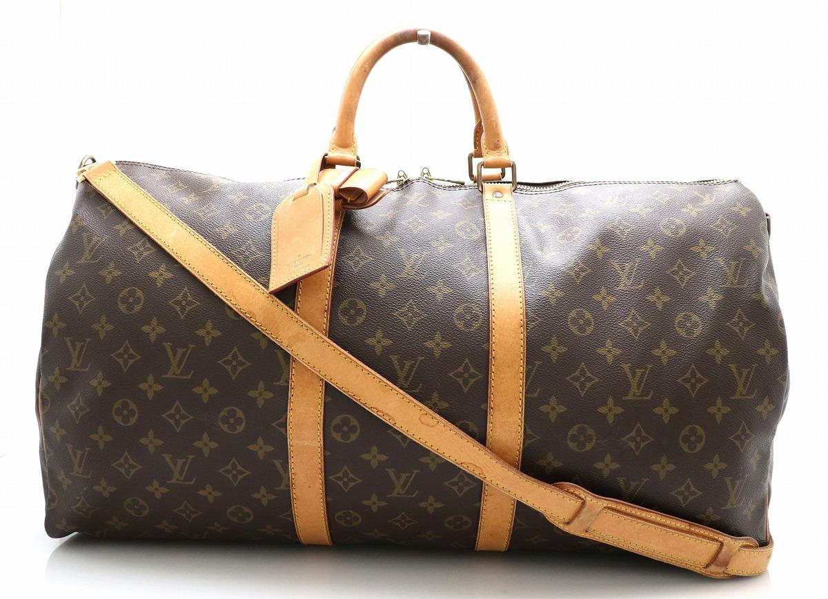 【バッグ】LOUIS VUITTON ルイ ヴィトン モノグラム キーポル バンドリエール55 ボストンバッグ 旅行カバン トラベルバッグ トラベルボストン M41414 【中古】【k】