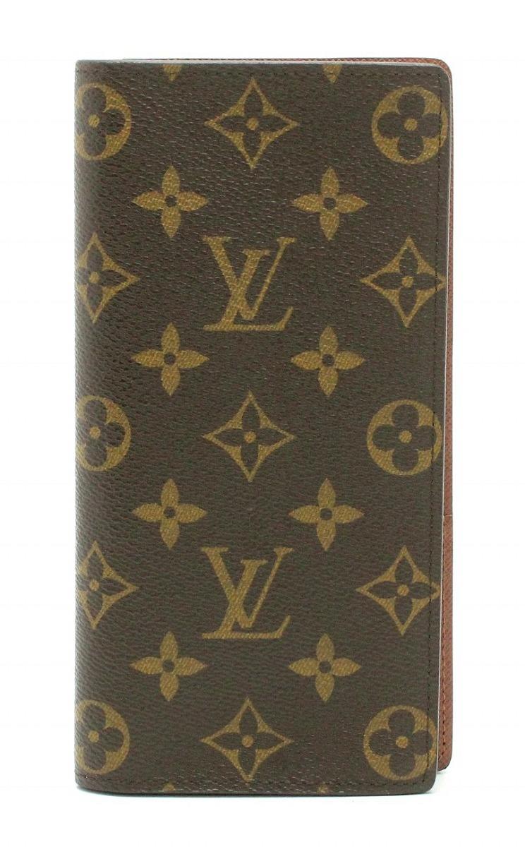 【未使用品】【財布】LOUIS VUITTON ルイ ヴィトン モノグラム ポルトフォイユ ブラザ 2つ折ファスナー長財布 M66540 【中古】【k】