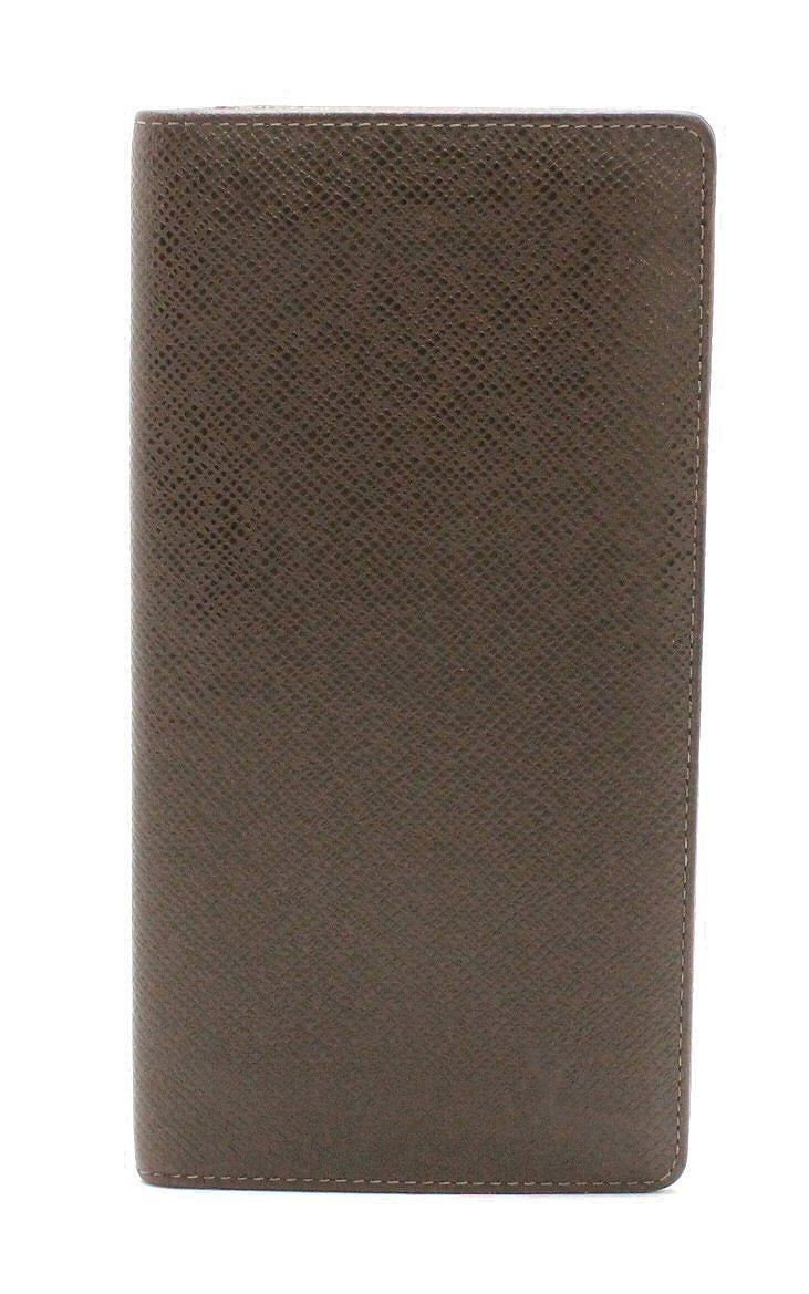 【財布】LOUIS VUITTON ルイ ヴィトン タイガ ポルトフォイユ ブラザ 2つ折長財布 カーフ レザー 茶 グリズリ M32578 【中古】【k】