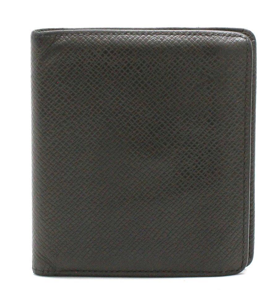 【財布】LOUIS VUITTON ルイ ヴィトン タイガ ポルト ビエ 3カルト クレディ 2つ折財布 アルドワーズ 黒 ブラック M30452 【中古】【k】