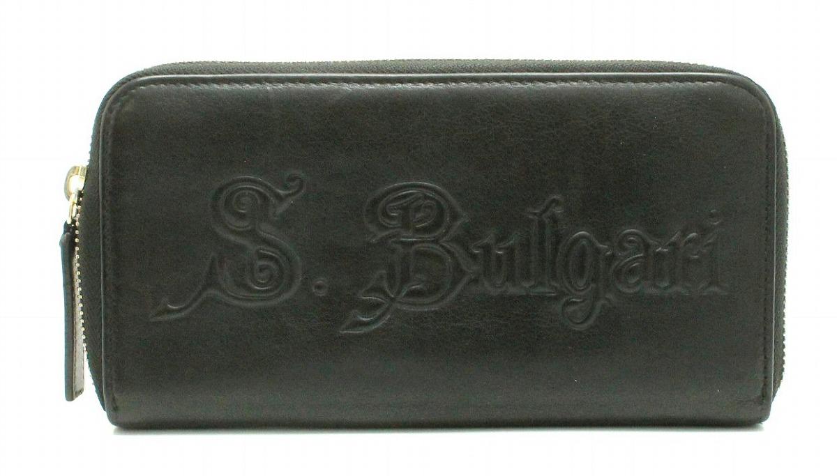 【財布】BVLGARI ブルガリ ソティリオ ブルガリ ラウンドファスナー 長財布 レザー 黒 ブラック 32560 【中古】【Blumin/森田質店】【質屋出品】【s】
